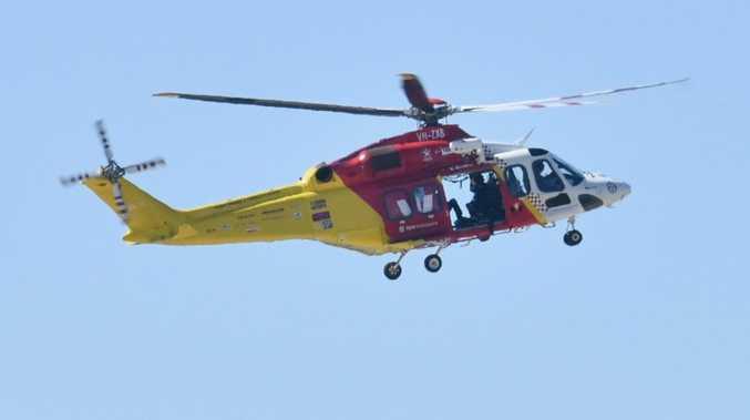 BREAKING: Westpac chopper called to motorbike crash
