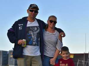 Footy fans gather to watch Storm dominate at 'home'