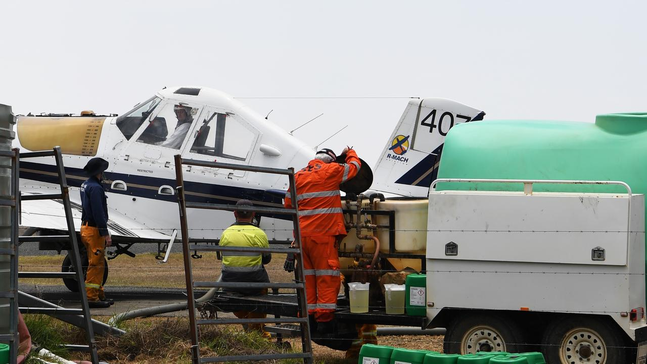 Rural Fire Service and SES personal were busy at Hedlow airfield last November.