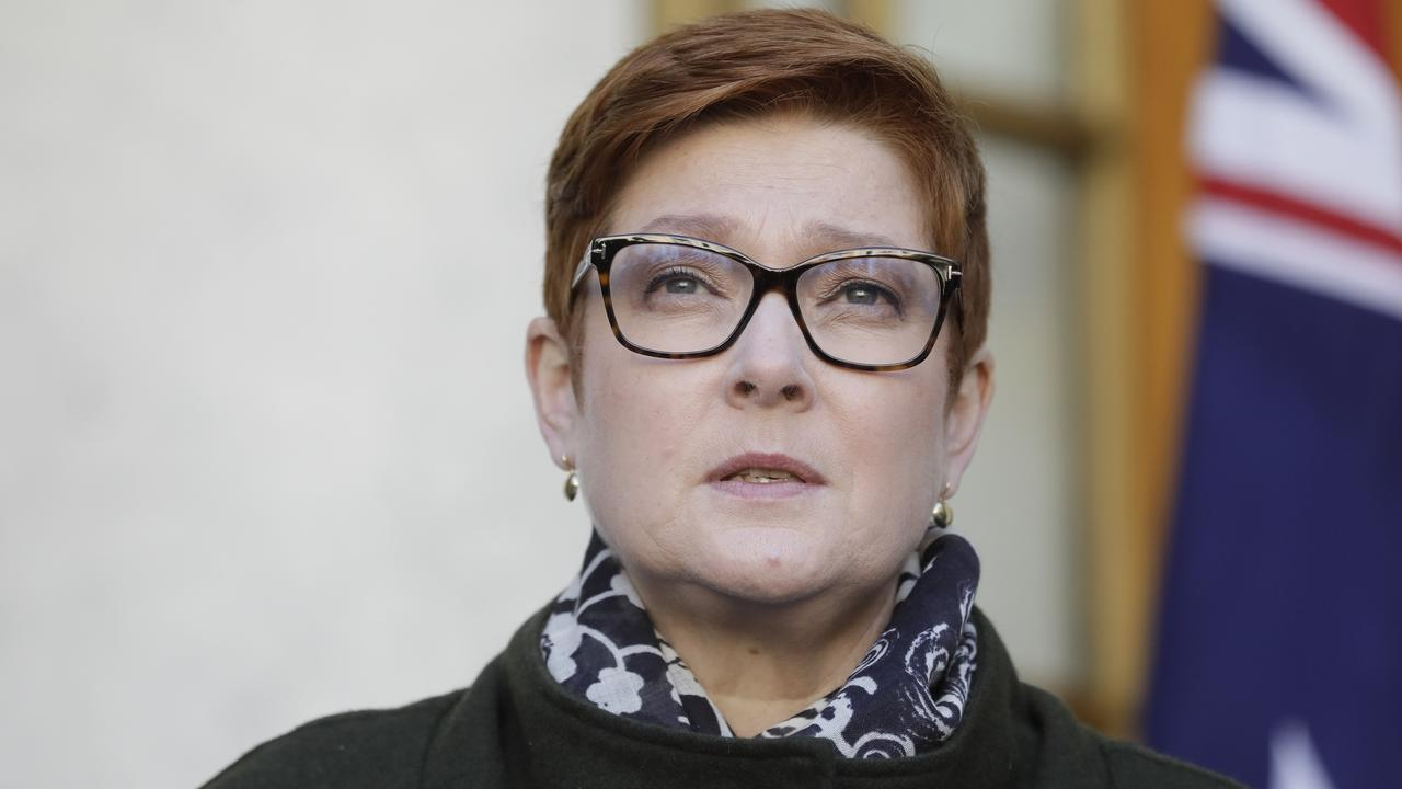 Foreign Affairs Marise Payne has accused China of undermining liberal democracy. Picture by Sean Davey.