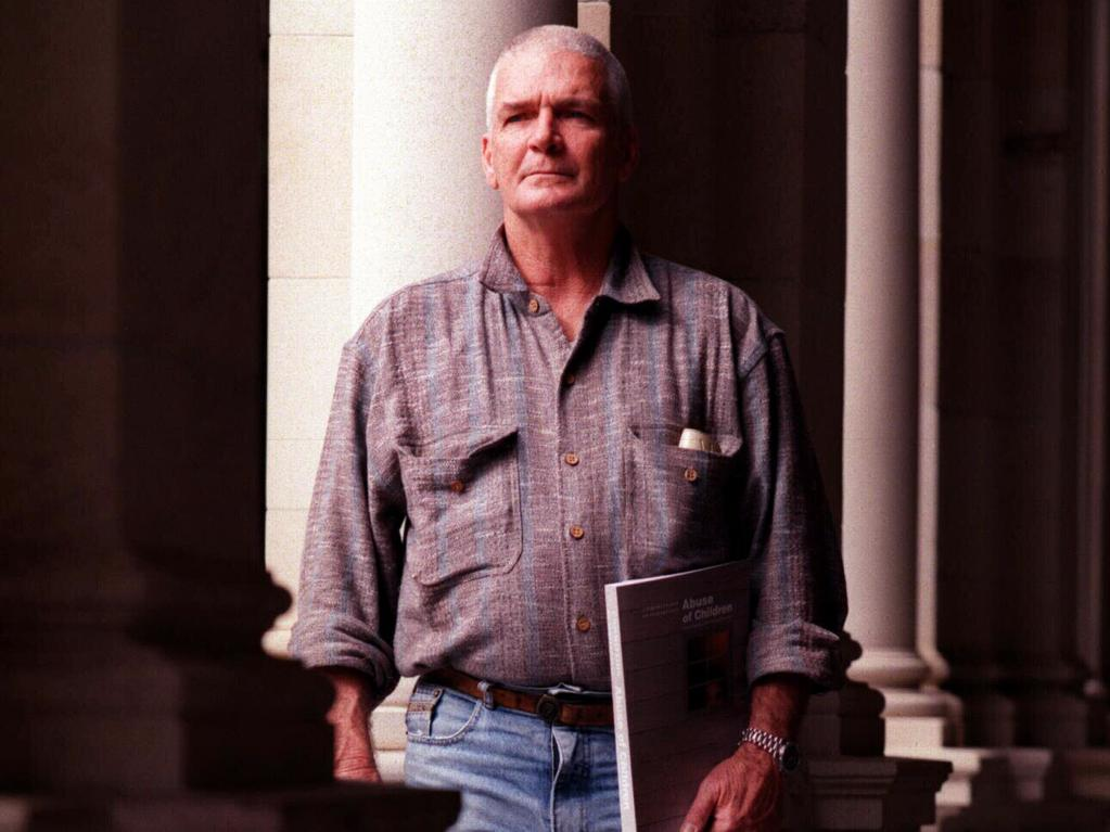 JUNE 8, 1999: Former state ward Allan William Allaway outside Queensland Parliament after testifying to Forde Inquiry about abuse he received while resident of Catholic Church's St Joseph's orphanage at Neerkol. Pic Greg White.