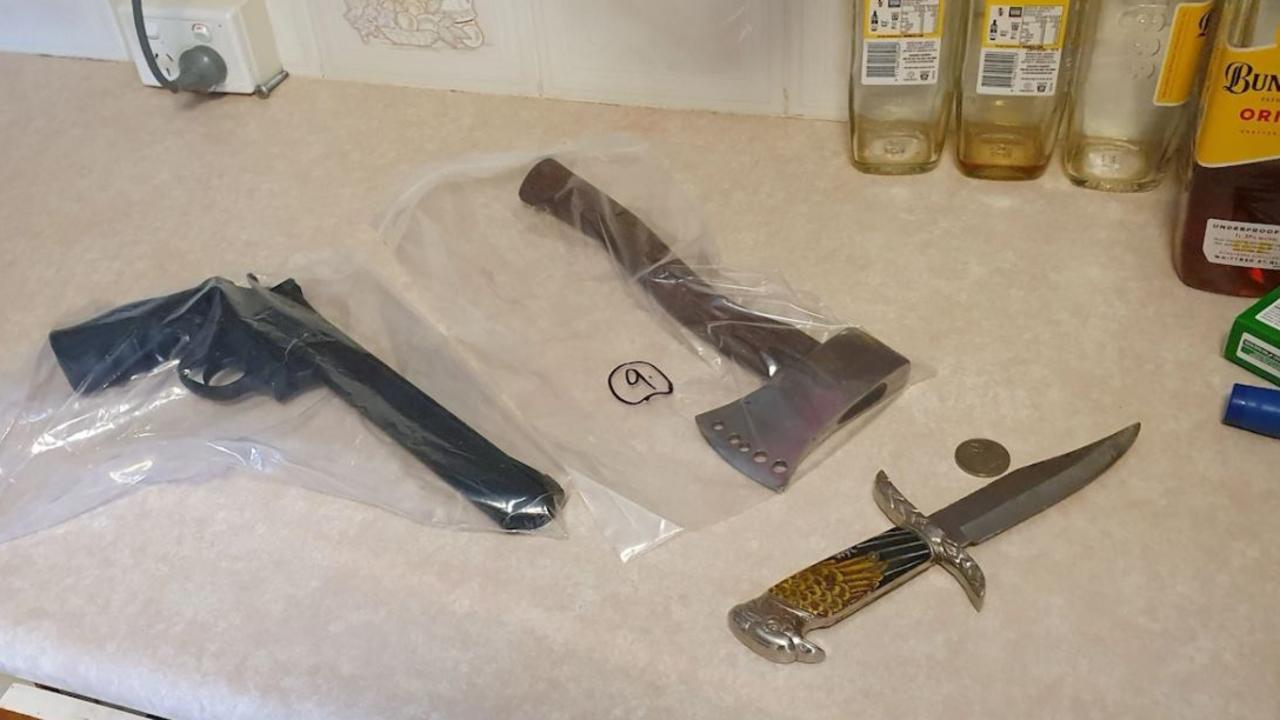 Weapons seized during Operation Sierra Lilac on the Sunshine Coast and Gympie in the last week. Pictures: Police media