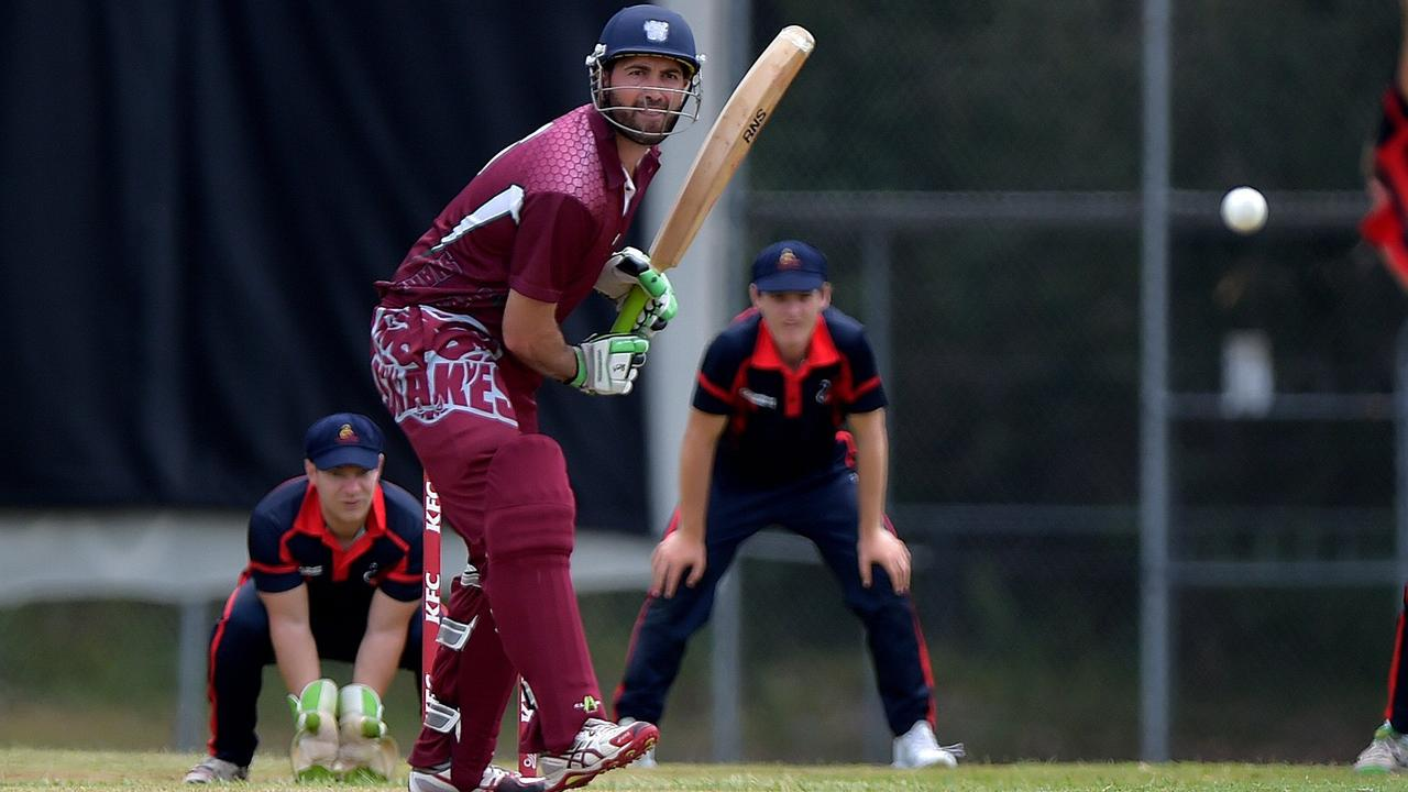 Caboolture batsman Glen Batticciotto's record knock was not enough to seal a T20 win against Noosa at the weekend. Picture: File