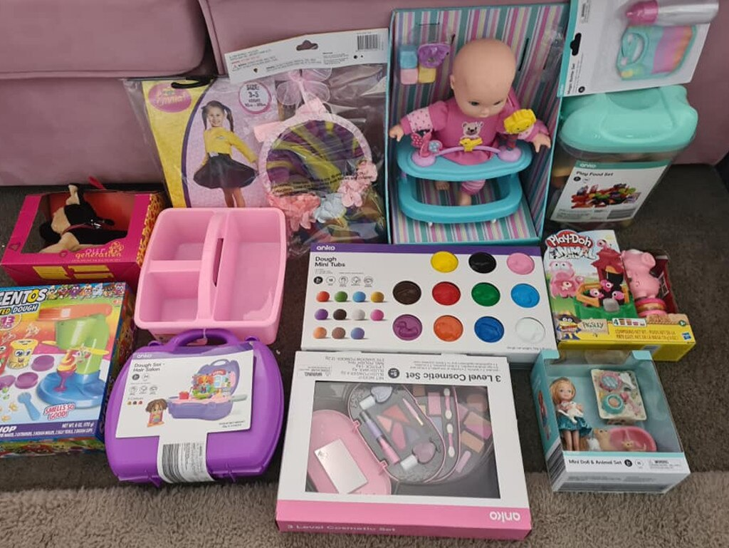 The mum said she still has 'about $1500 in lay-bys' to pick-up for her two-year-old. Picture: Facebook/ChristmasMumsAustralia
