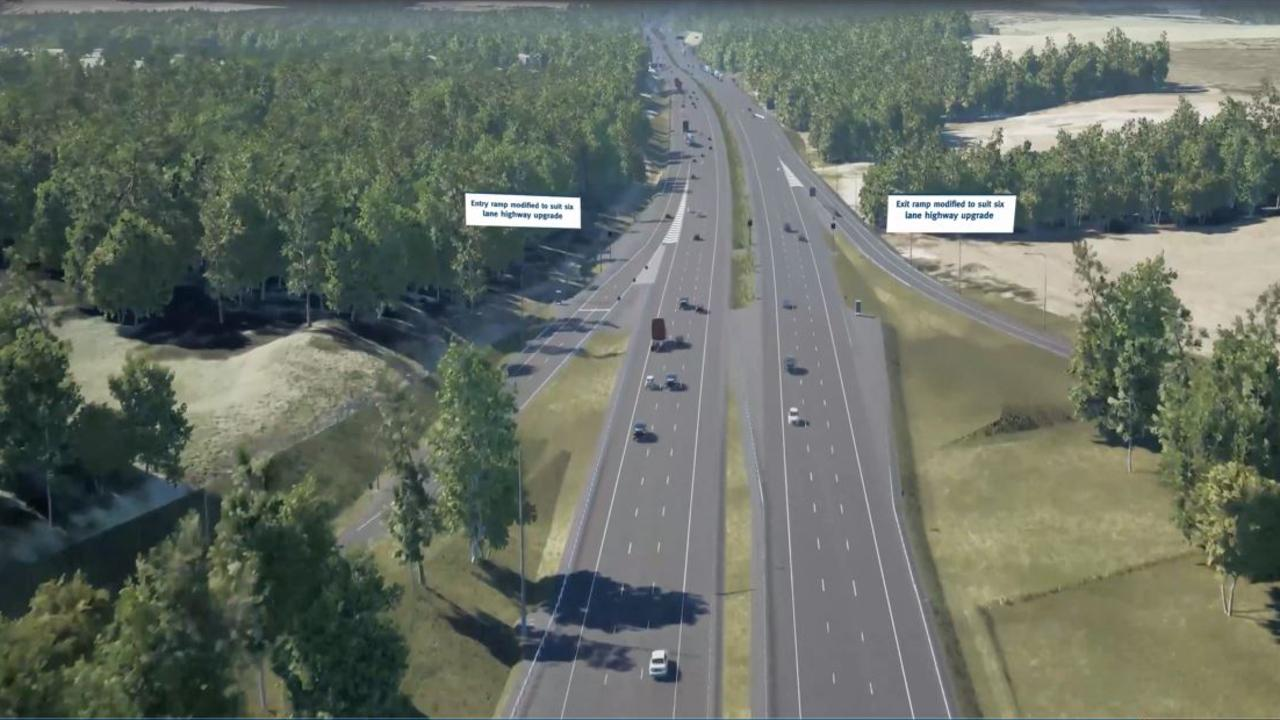 A bird's-eye view of the future Bruce Highway once the 11km Caboolture to Steve Irwin Way upgrade is complete. Picture: Supplied