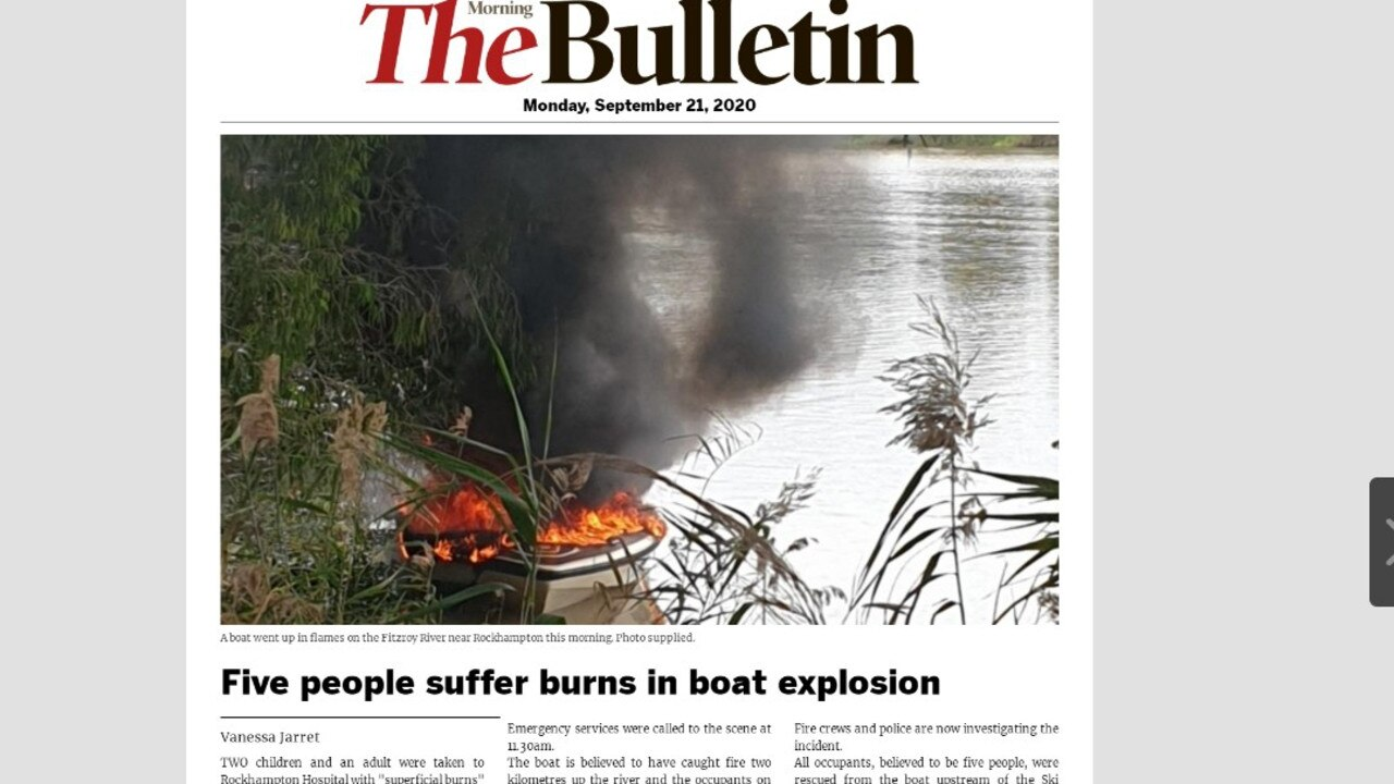 Morning Bulletin digital edition, Monday September 21