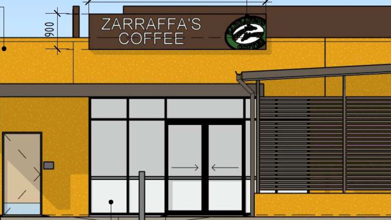 Architectural plans for the new Zarraffa's store in Ballina.