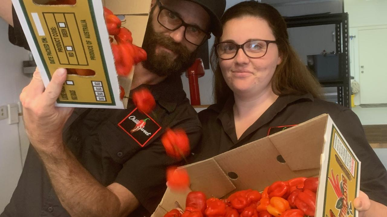 Anthony and Shelby Johnson are the new owners of Nambour business Chilli Sweet.