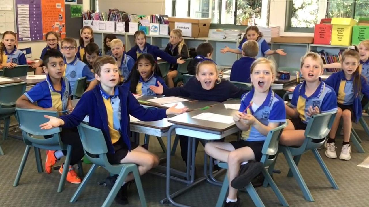 TEAM EFFORT: Teacher Judith Stutchbury and 25 students from her 2/3K class at Kalkie State School participated in the video submission.