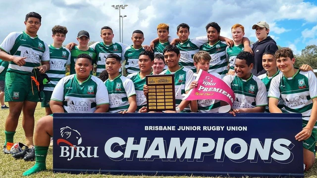 The grand final-winning Rangers under-14 rugby side that shared in a memorable season of success for the Ipswich club.