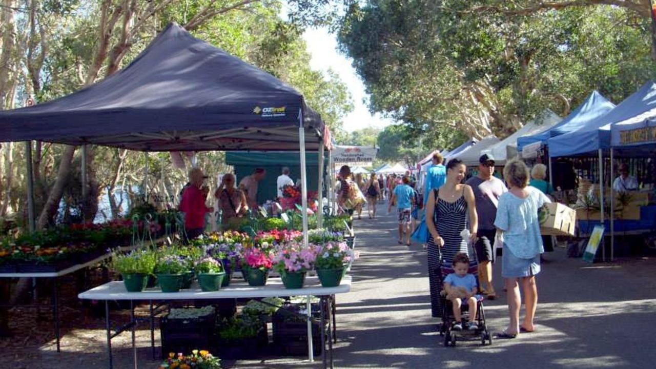 The Lennox Head Community Market at Lake Ainsworth in 2013.