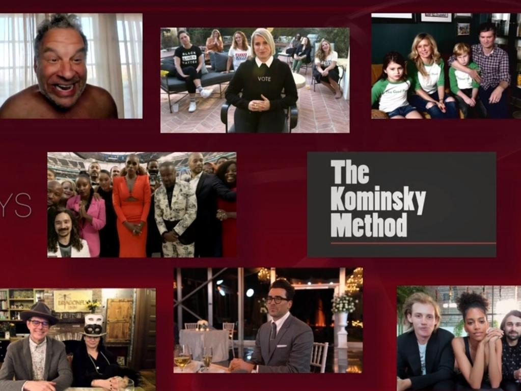 The nominees for Outstanding Comedy Series appeared via Zoom at the 72nd Emmy Awards. Picture: Foxtel