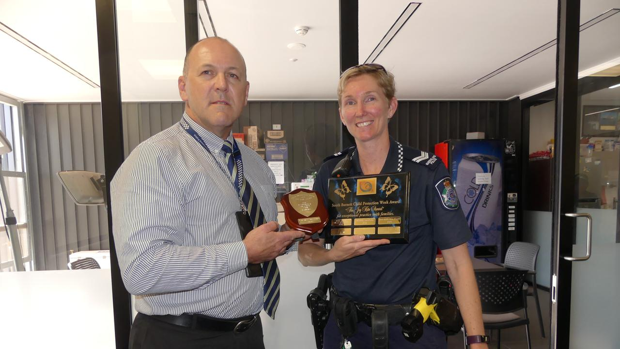 Acting Inspector Scott Stahlhut and Senior Constable Sam Giles. Photo: Holly Cormack.