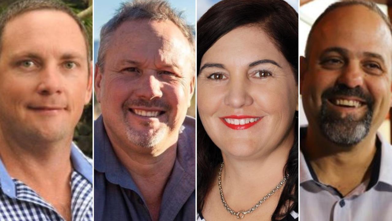 Mirani state election candidates: Shane Hamilton (ALP), Mirani MP Stephen Andrew (ONP), Tracie Newitt (LNP) and Jason Borg (NQ First).