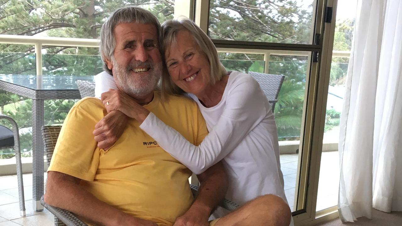 John and Chris Bowie can't wait to get back to Noosa and begin his cancer treatment.