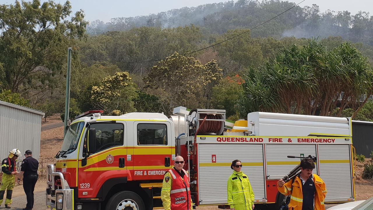 Fire authorities work the Cobraball bushfires.