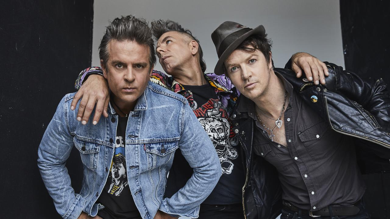 The Living End are an Australian punk rock band from Melbourne, formed by Chris Cheney, Scott Owen and Andy Strachan. Photo by Cybele Malinowski