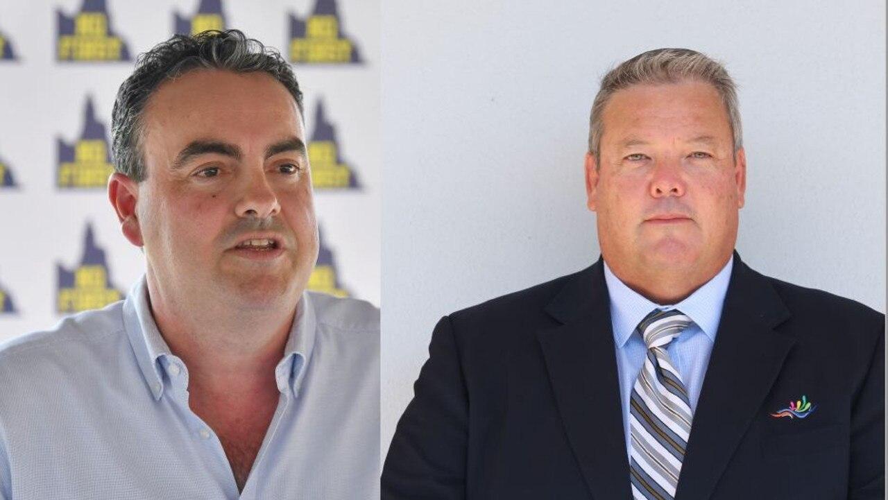 (Left) Whitsunday MP Jason Costigan. Photo: Tony Martin (Right) Whitsunday Regional Council Mayor Andrew Willcox. Photo: Jordan Gilliland