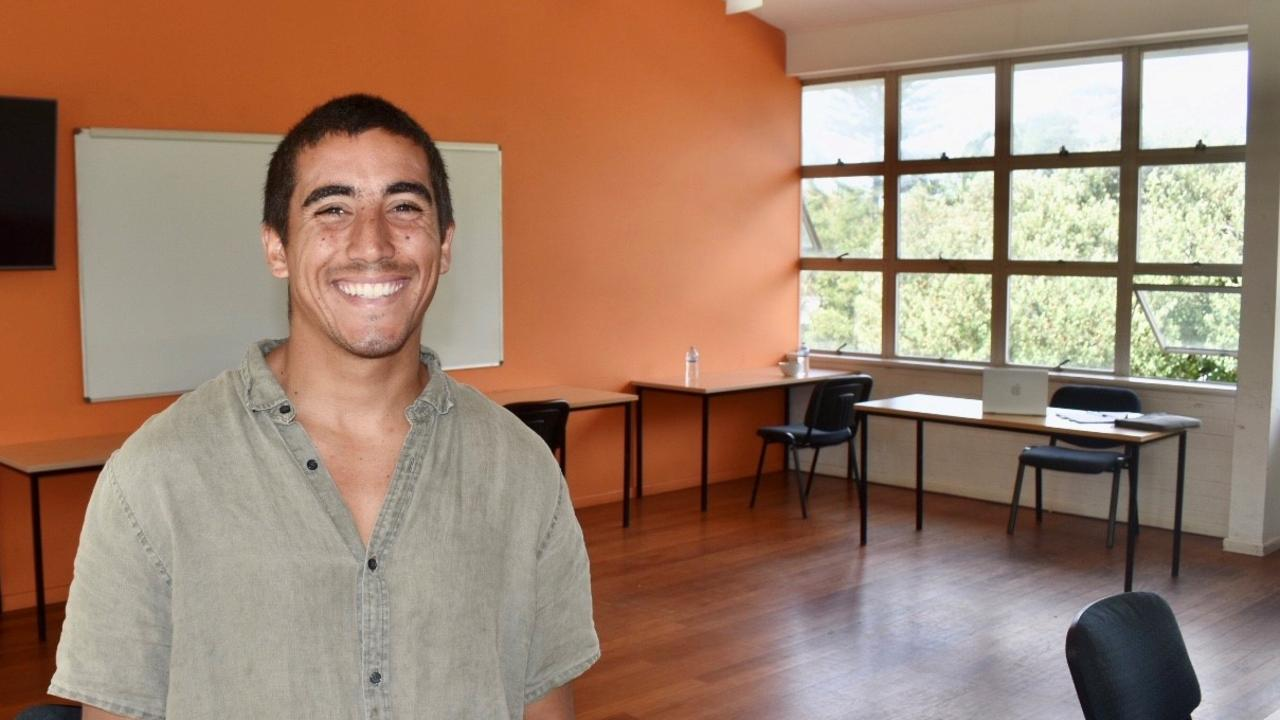 Cristobal Ahumada, manager at Byron Bay Student Accommodation, is now also offering casual working spaces in the middle of town.