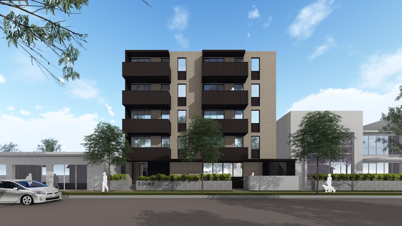 An artists impression of Mission Australia's planned social housing development on Duke St, Coffs Harbour.