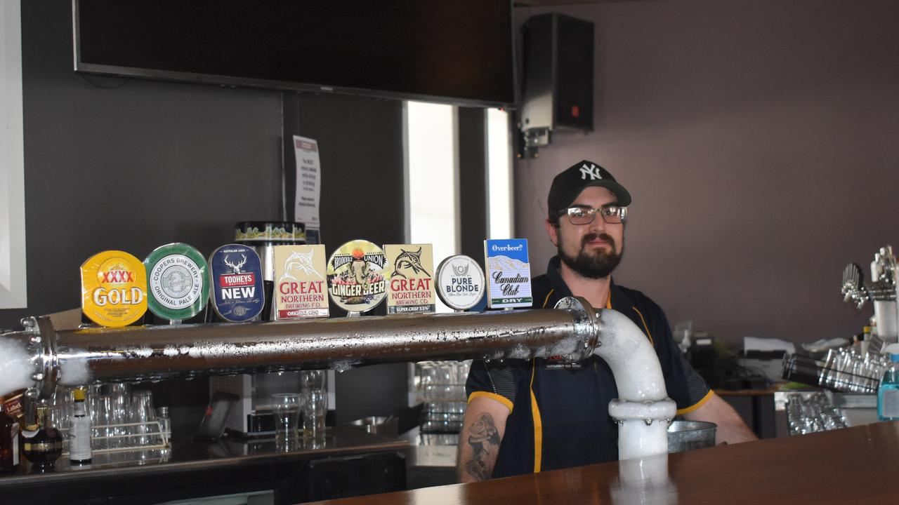OPEN FOR BUSINESS: Hotel Stanthorpe barman Leal Scopelliti is glad to see the popular pub reopen.