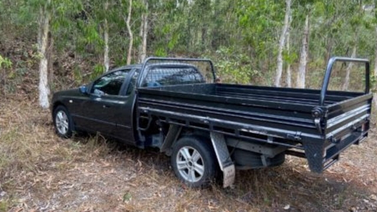 A search involving police, State Emergency Service volunteers and a helicopter started after Ian Robertson's black 2006 Ford Falcon utility was found on Battle Camp Rd about 2pm Monday. Picture: Supplied.