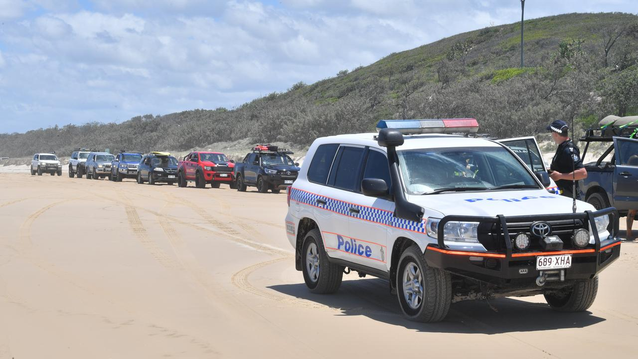 Police patrolling beaches in Cooloola.
