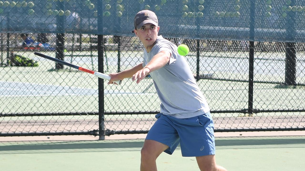 Dylan Price in full swing at the 2020 Head State UTR Championships in Rockhampton at the weekend. Photo: Jann Houley
