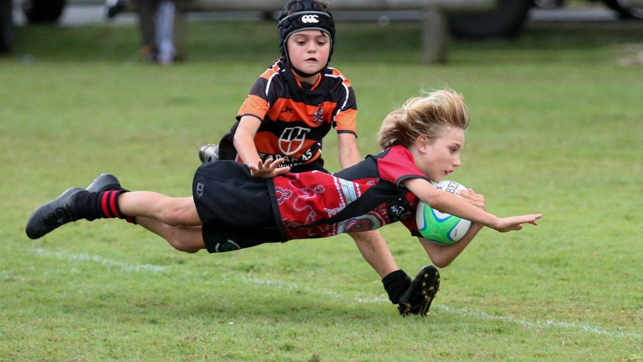 GRAND FINAL AHEAD: Tweed Coolangatta Barbarians U9's player Deegan Lahrs. On Friday September 25 the team will line up against Lismore White at Banora Point for the division's grand final. Photo: Frankie Abekawa