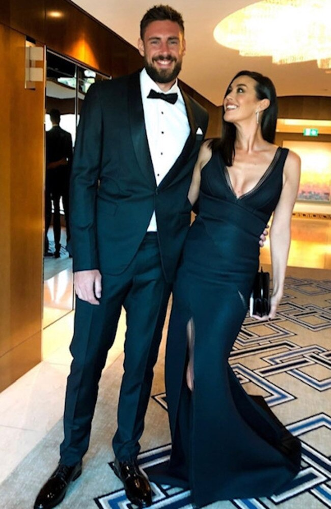 Shaun Hampson and Megan Gale. Pic: Instagram