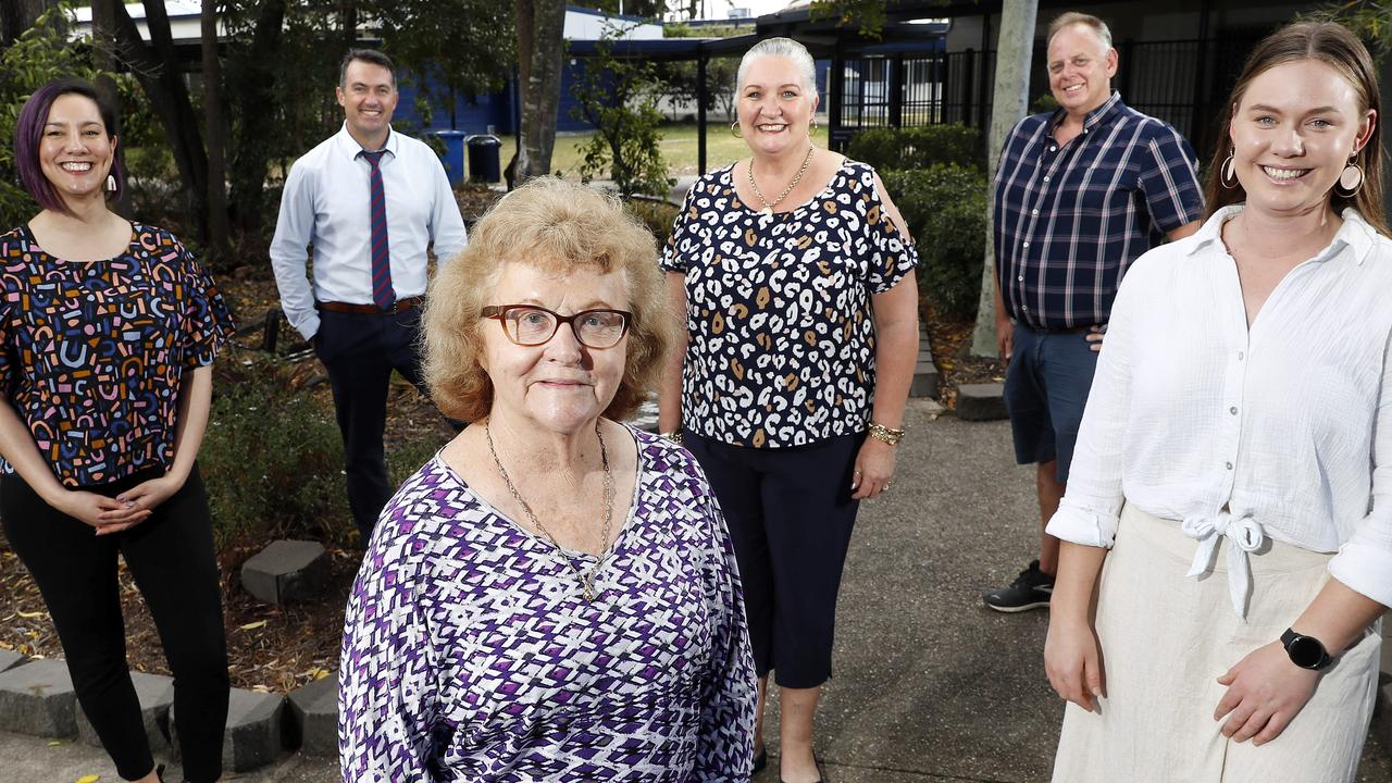 Mabel Park State High School Teachers Naomi Kitching, Grant Stephensen, Judy Fewtrell, Margaret Sherrington, Gavin Jones and Sophie Gruhl have all been nominated in the Queensland College of Teachers TEACHX Awards. Picture: Josh Woning