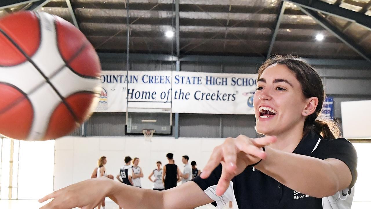 Ava Nason is part of USC Rip City's U16 girls team at the state championships. Photo Patrick Woods / Sunshine Coast Daily.