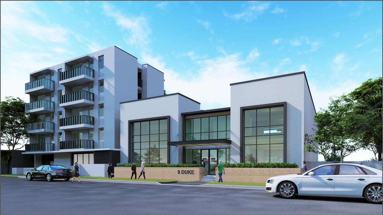 An artists impression of Mission Australia's planned social housing development and Mission Australia Centre on Duke St, Coffs Harbour.