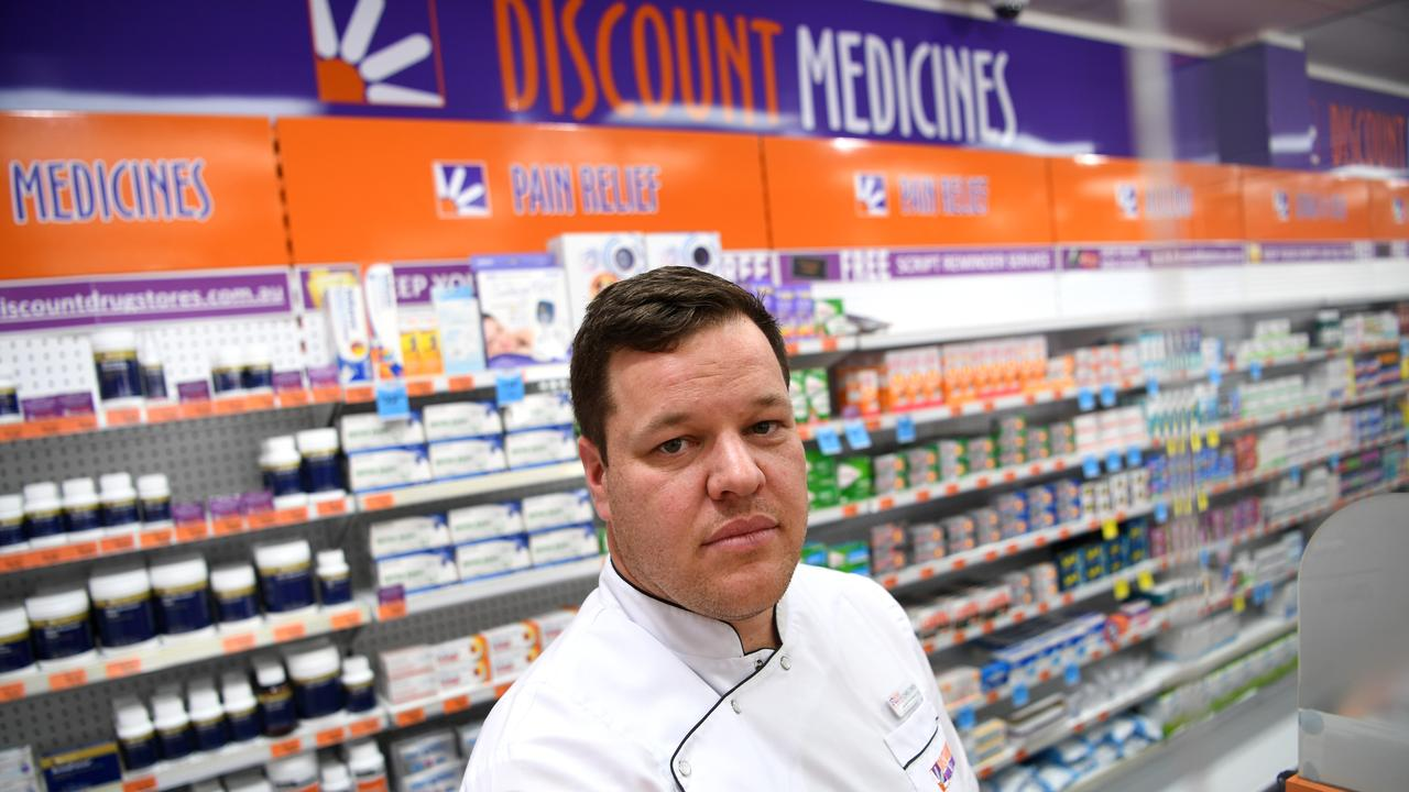 The Queensland Vice President of the Pharmacy Guild of Australia Chris Owen at his pharmacy in Brisbane after the Queensland Government announced that COVID-19 testing will be piloted in community pharmacies across Queensland. Picture: Dan Peled