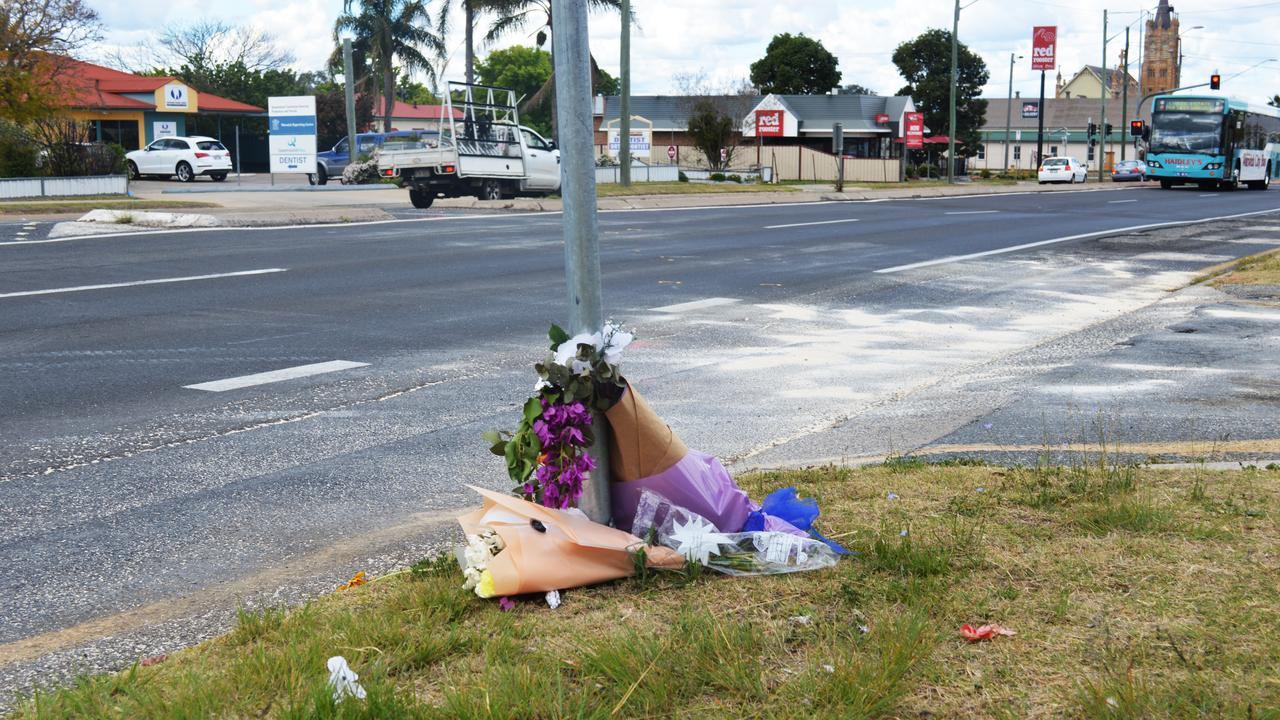 A makeshift memorial at the scene of Monday's horror crash is a haunting warning for road users to practice caution. Picture: Tessa Flemming