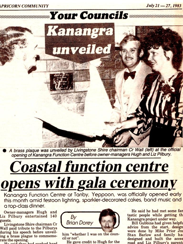 Capricorn Community clipping from 1983 announces Kanangra's opening