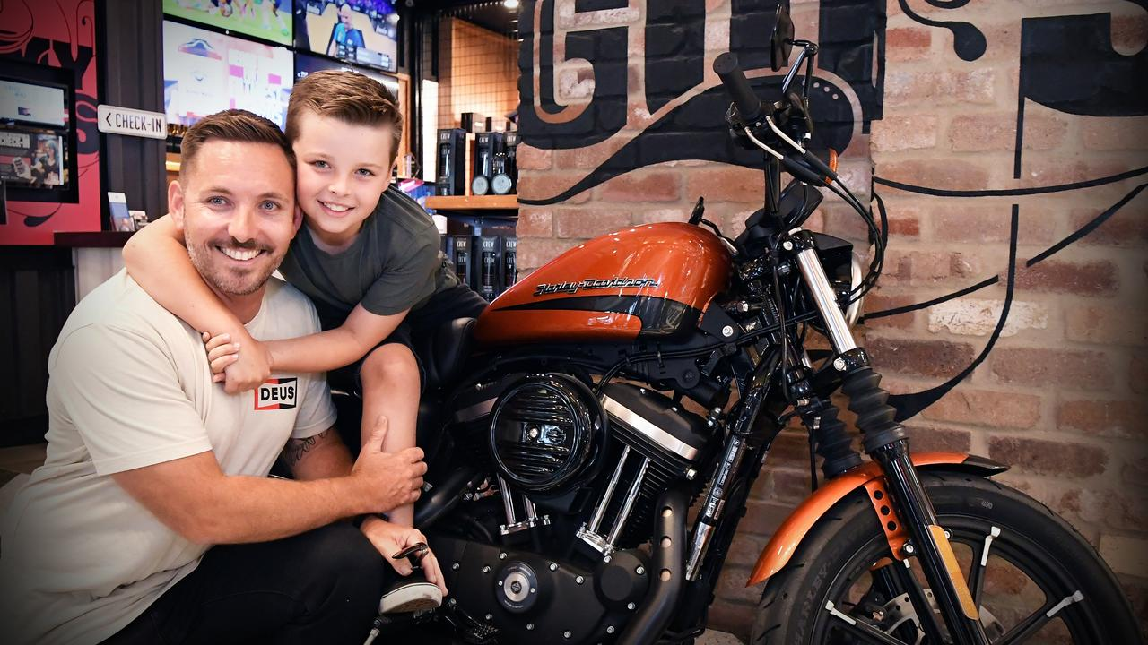 Hudson entered his dad into the competition and said he deserved to win because of his cancer scare. Photo: Patrick Woods
