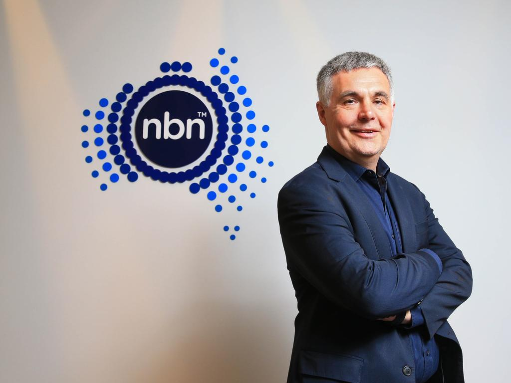 NBN CEO Stephen Rue says the focus has been on completing the build of the network. Picture: Aaron Francis/The Australian