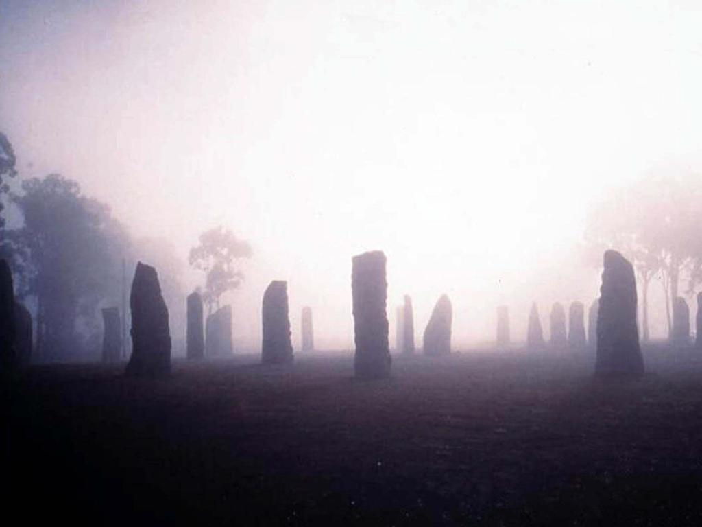 The Australian Standing Celtic Stones of Glen Innes, NSW – constructed as part of a Bicentennial project.