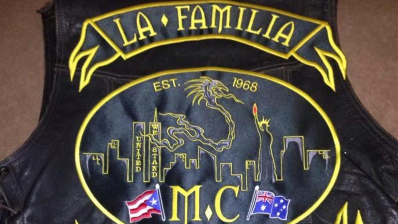Jacket of the former president of the La Familia chapter based in Brisbane. Supplied