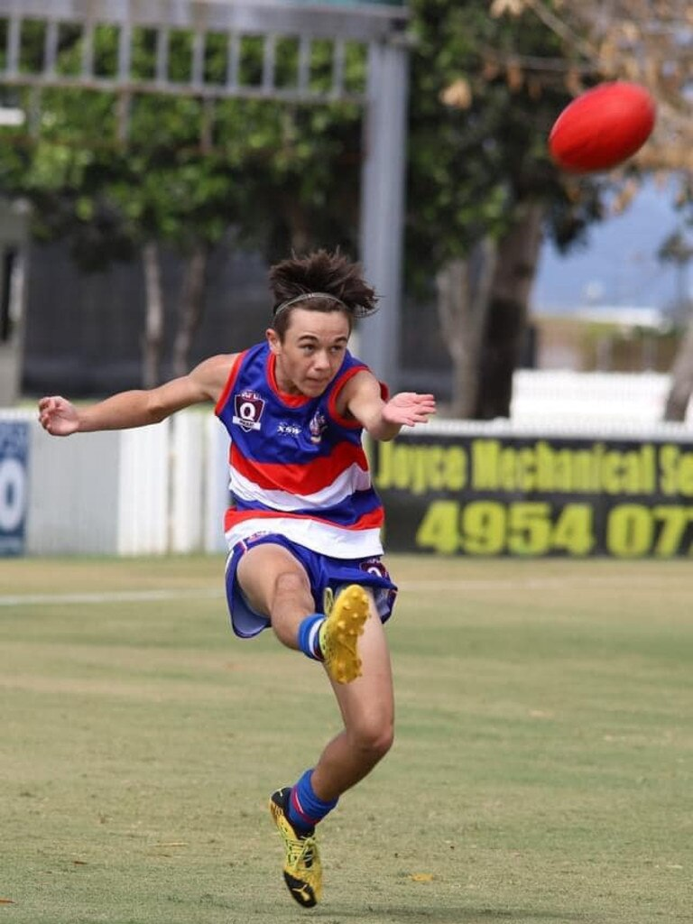 Moranbah Bulldogs Under-14.5 captain Blake Thompson will play his 100th junior game for the club this weekend. Photo: Contributed