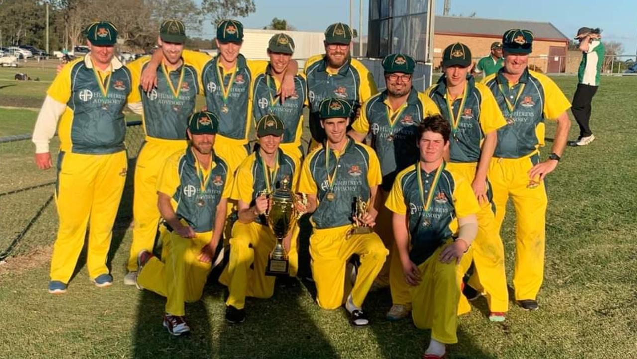 The Northsiders cricket team that won the Len Martin Cup T20 series in a super over against Laidley.