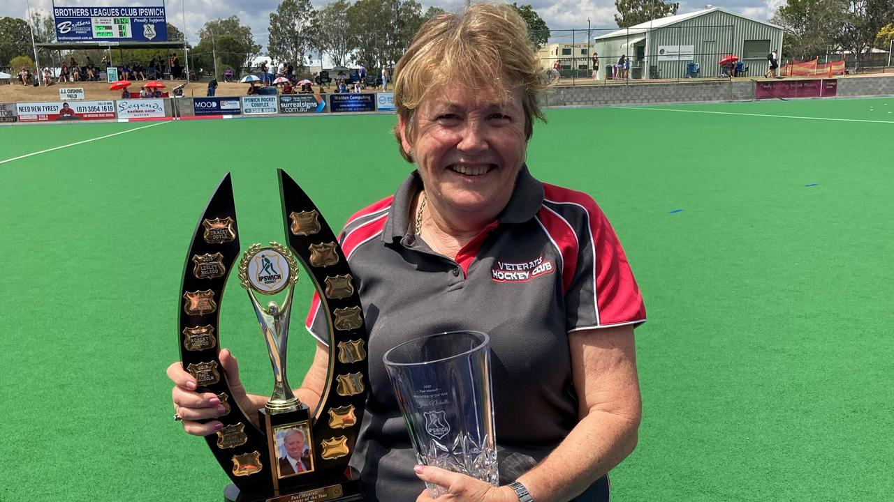 Dedicated volunteer June Nicholls was recognised for her invaluable contribution to Ipswich Hockey, particularly as COVID co-ordinator for 2020.