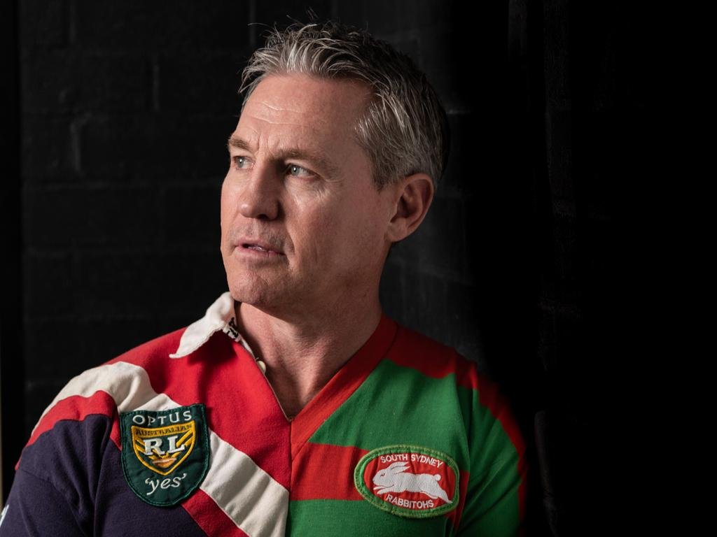 Sean Garlick in his two-tone jersey. Picture: James Gourley/The Daily Telegraph