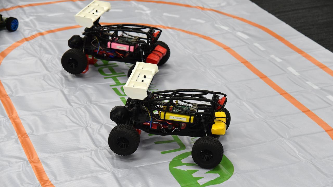 Robot cars.