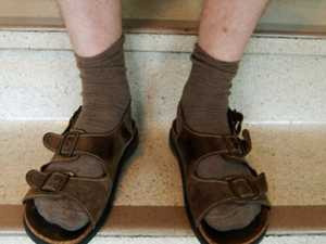 FASHION CRIME? Why sock and sandals retiree was in court