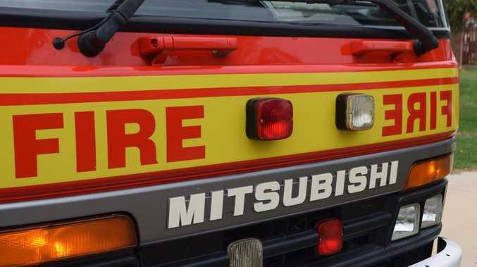 Fireys battle van fire at service station