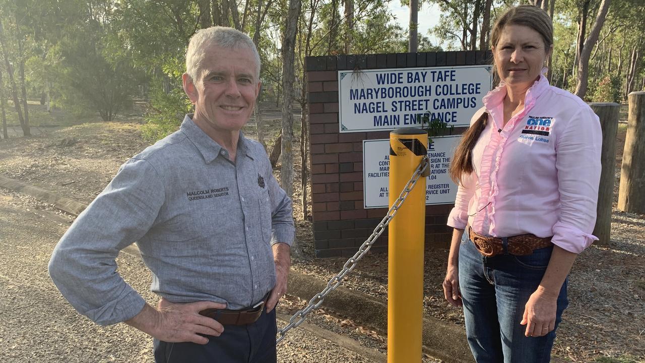 One Nation Senator Malcolm Roberts with Maryborough Candidate Sharon Lohse. Photo: Stuart Fast
