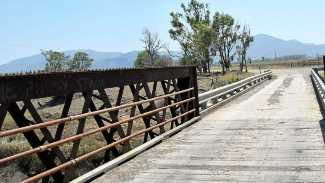 The historic Gavial Creek bridge