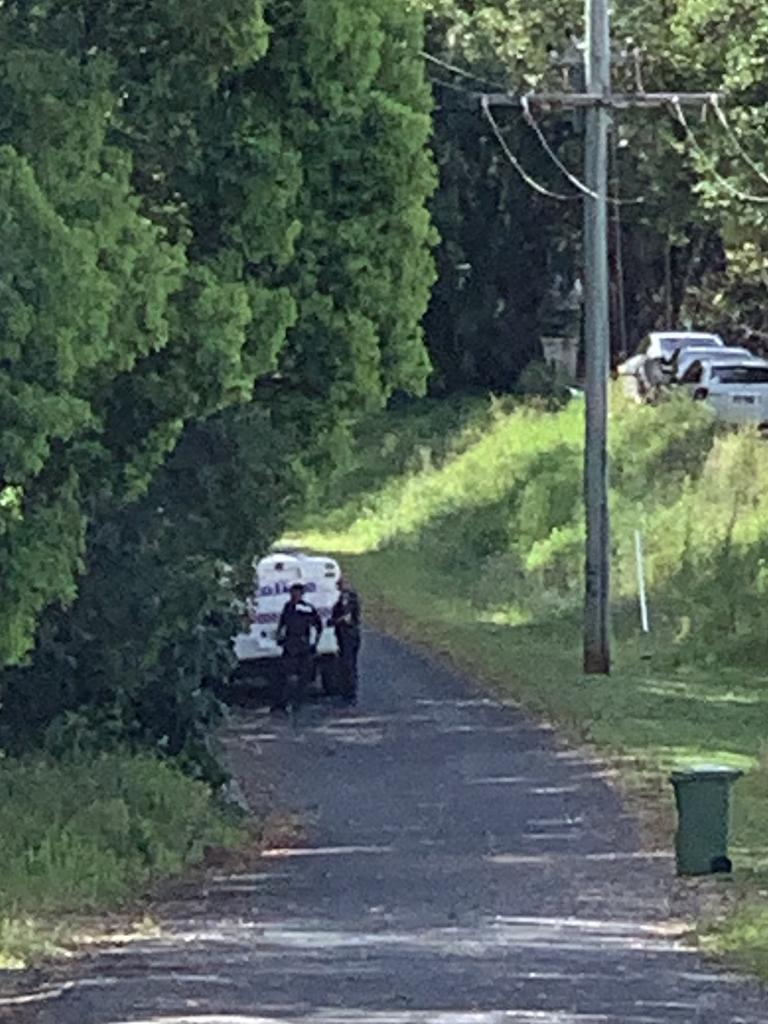 Police found man hiding in bushland in Woombye.